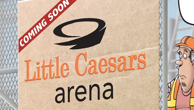 There's a new name for the new hockey arena in Detroit.