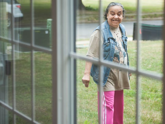 Elida Echevarria looks at her new home Wednesday after