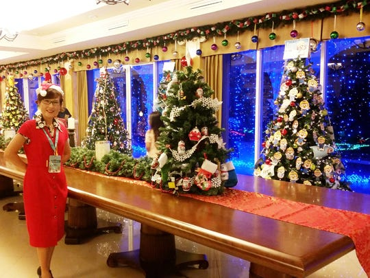 """A Local Artist Yeon Sook Park under Guam Department of Chamorro Affairs and """"Guam Council of the Arts and Humanities Agency assisted at the Government House Peace Festival on Dec. 16."""