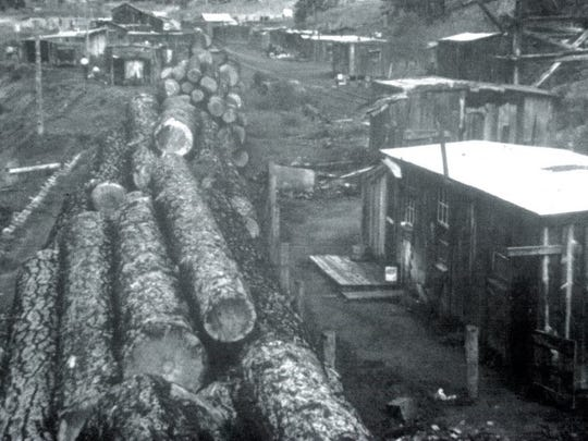 The thoroughfare of the logging community of Marcia, Sacramento Mountains.