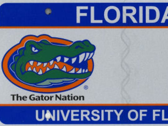 University of Florida is the most-popular specialty license plate.