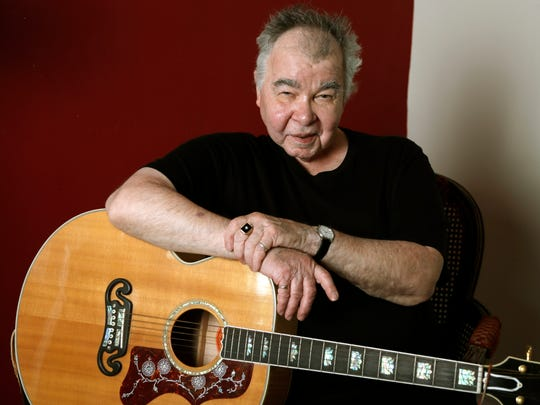 "In this June 20, 2017, photo, John Prine poses in his office in Nashville, Tenn. The former Chicago mailman has become an affable songwriting guru for many of Nashville's talented young artists and his songbook, ""Beyond Words,"" released in April, features guitar chords, family photos, handwritten lyrics and witty stories alongside some of his best known songs, such as ""Sam Stone."" (AP Photo/Mark Humphrey)"