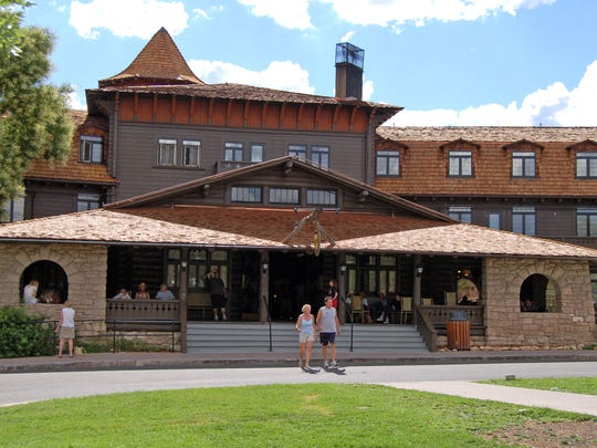 El Tovar Hotel, perched on the edge of the Grand Canyon,