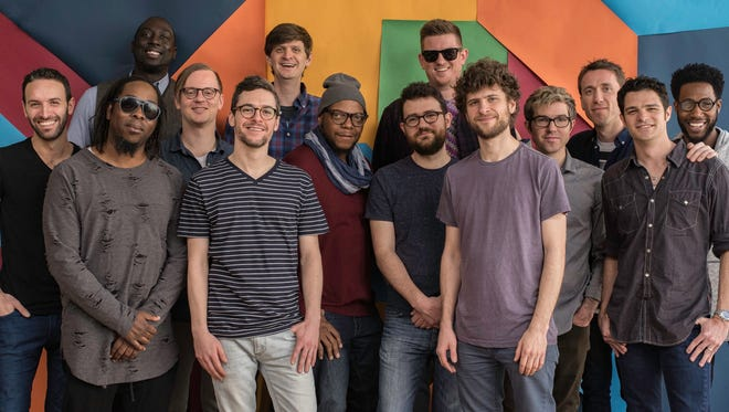 Jazz fusion group Snarky Puppy, co-founded by Wauwatosa native and trumpet player Mike Maher (back row, center), won its third Grammy Sunday.