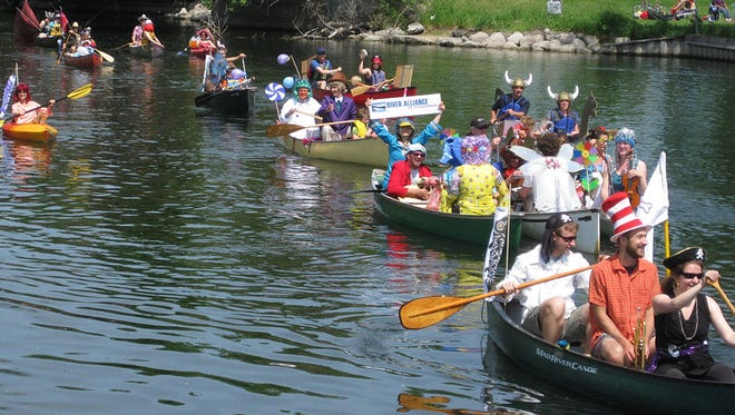 The Fools Flotilla is organized by the River Alliance of Wisconsin and was held on the morning of June 8.