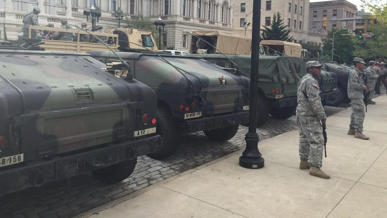 National Guard pulled out of Baltimore