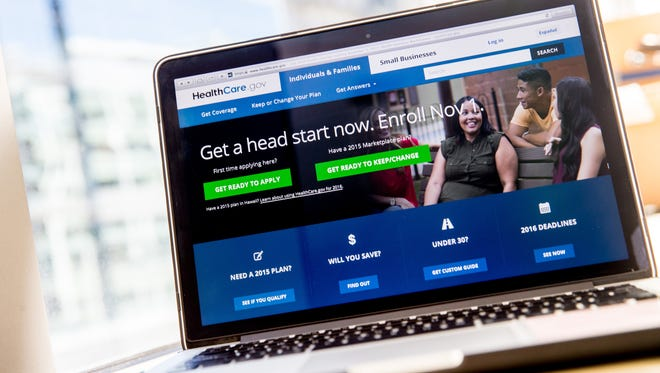 In this Oct. 6, 2015 file photo, the HealthCare.gov website, where people can buy health insurance, is displayed on a laptop screen. Nevada Health Link switched to the federal system after dropping Xerox.