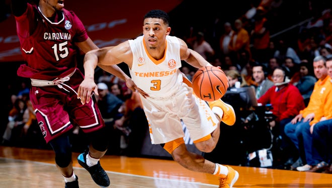 Tennessee guard James Daniel III is the most productive grad transfer in UT basketball history. Daniel, a three-year starter and prolific scorer at Howard University, has been a steadying presence in a young Tennessee backcourt. He is averaging 6.6 points off the bench.