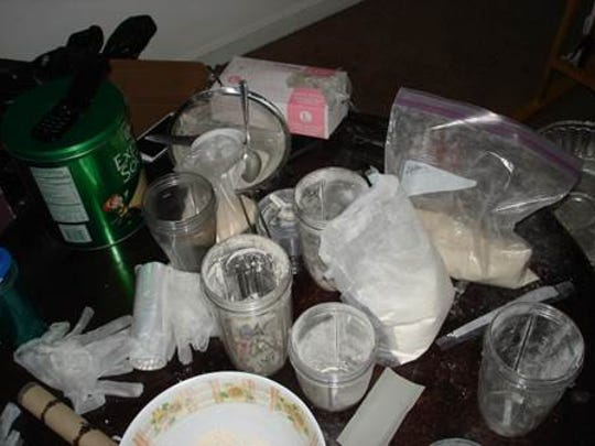 A trap house showing fentanyl and tools of the drug
