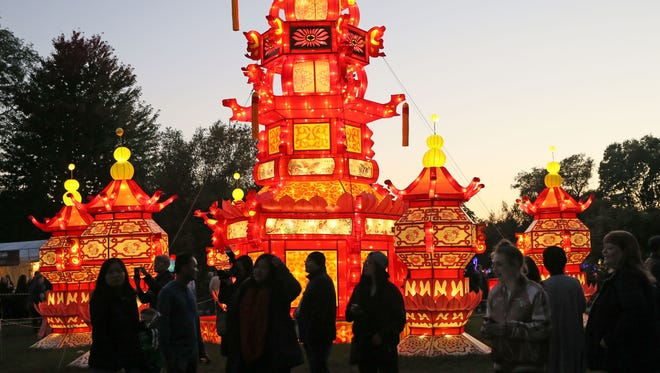 The Chinese Palace lantern sculptures are part of China Lights exhibit at Boerner Botanical Gardens. The exhibit of fabric-covered lanterns will return in 2017 with new sculptures.
