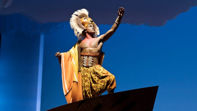 """Gerald Caesar as Simba in the U.S. tour of """"Disney's The Lion King."""""""