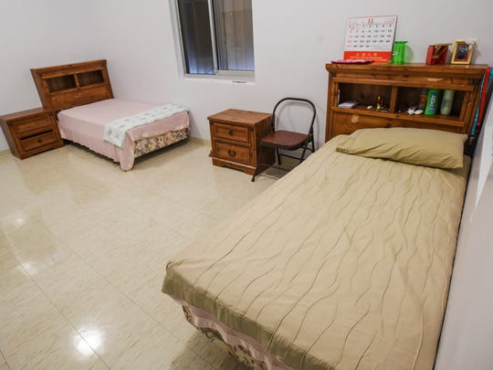The typical sleeping accommodations for female youths staying at the co-ed emergency shelter, as seen during an open house tour, at the Sanctuary Inc. of Guam facility in Chalan Pago on Tuesday, Nov. 22, 2016. The shelter can handle up to 18 clients, 9 male and 9 female, 12-17 years old, according to Sanctuary documentation. The males and female clients reside in separate living areas at the facility.