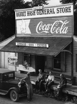 """Undated photo of the Rabbit Hash General Store, which is in the book """"Potions & Notions: The Legacy of Rabbit Hash,"""" by Callie Clare."""