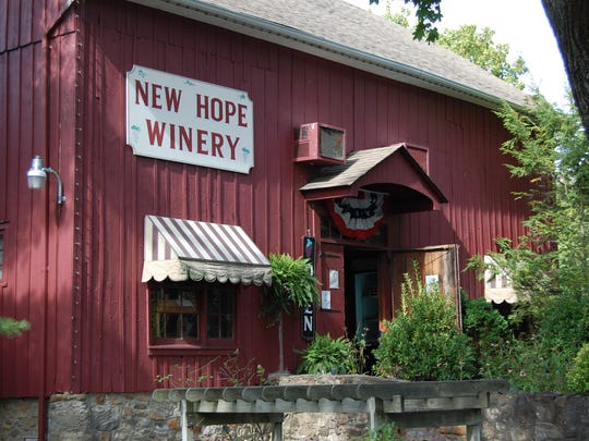 For $10, thirsty travelers can taste five wines from the wine list and pick up a New Hope Winery etched glass from 11 a.m. to 5 p.m. everyday.