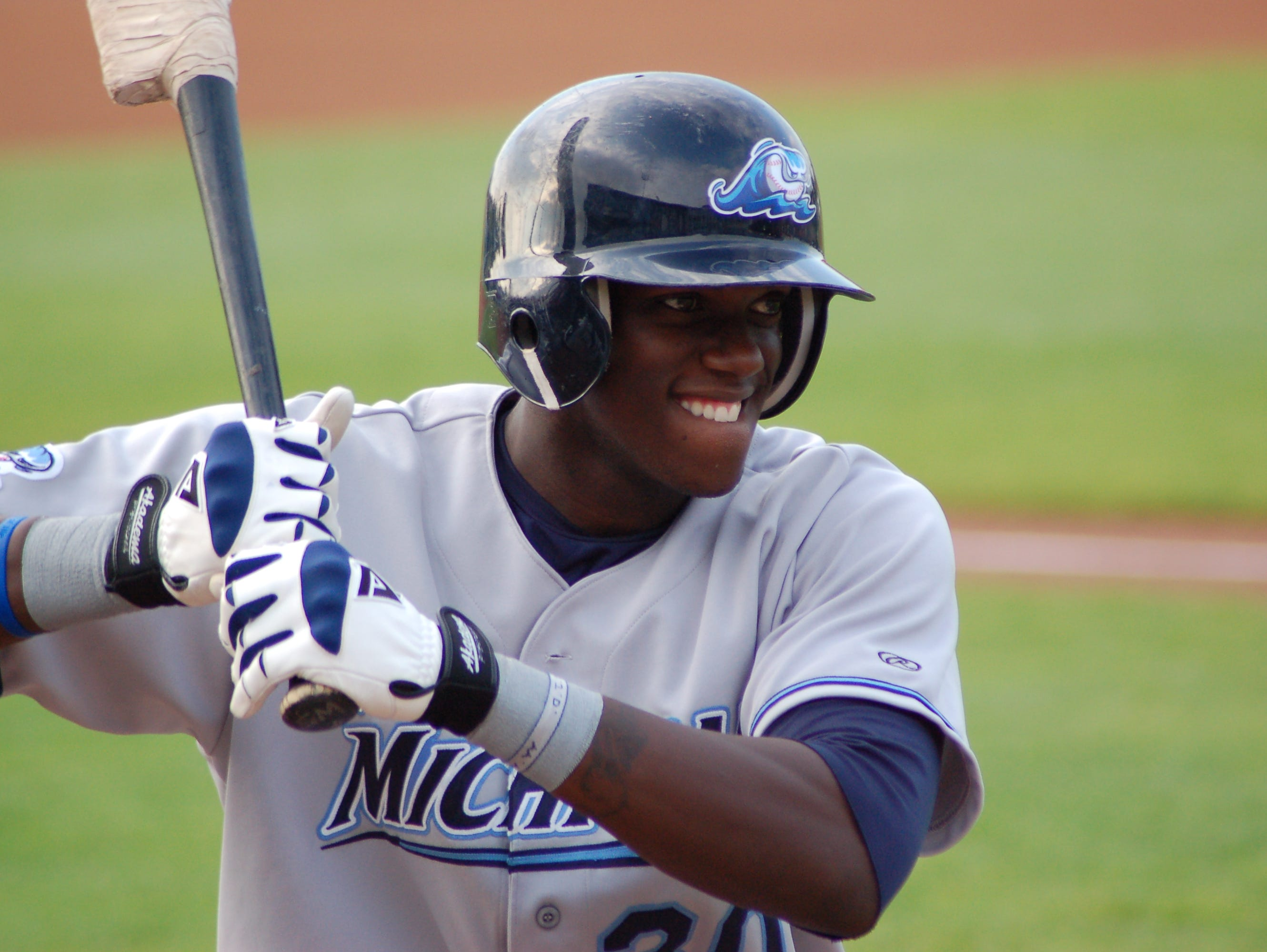Roberson alum Cameron Maybin with the West Michigan Whitecaps in 2006.