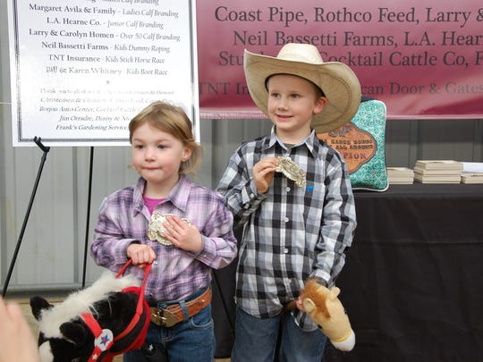 Winners at the Ranch Rodeo.