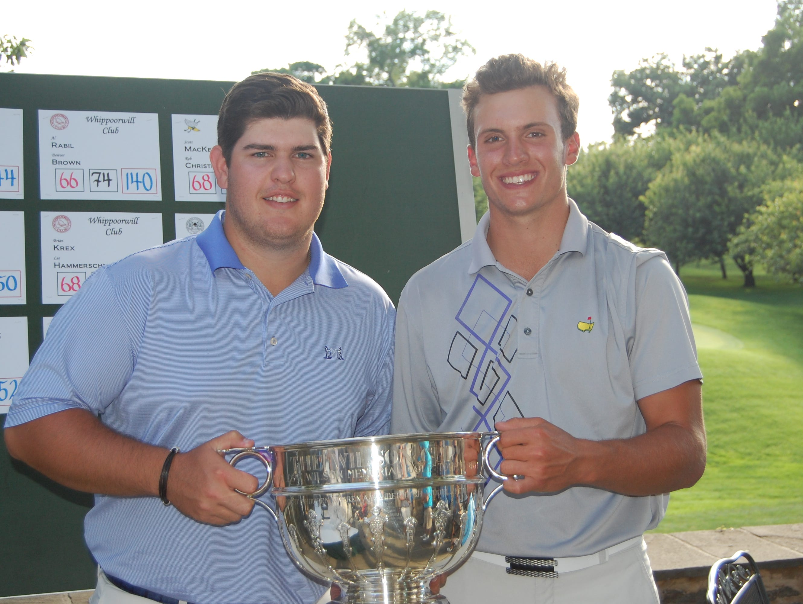 Chris Troy and James Nicholas teamed up to win the Wilson Cup at Scarsdale Golf Club on Friday. The Winged Foot partners were 13-under and won by four.
