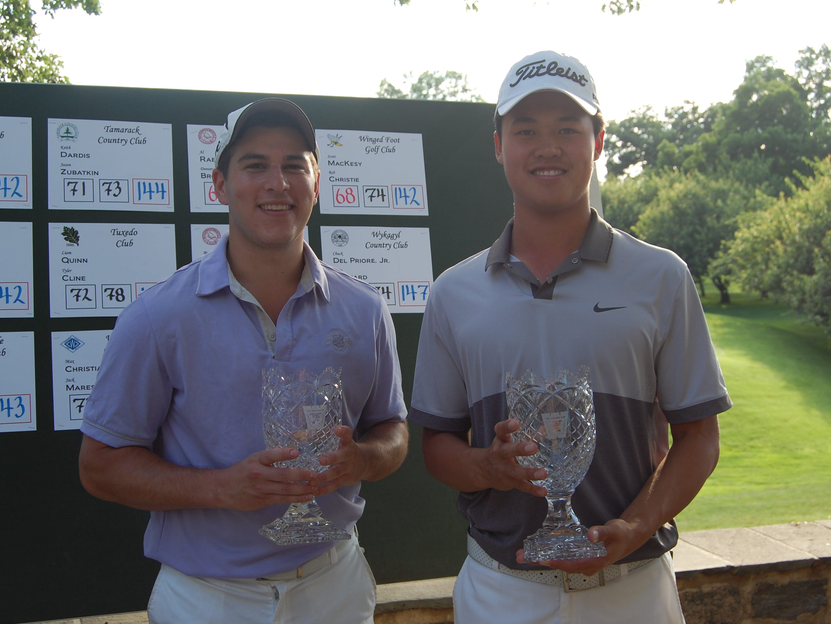 Peter Friedman and Brandon Wu of Scarsdale Golf Club took second place in the Wilson Cup, playin together for the first time in the morning round.