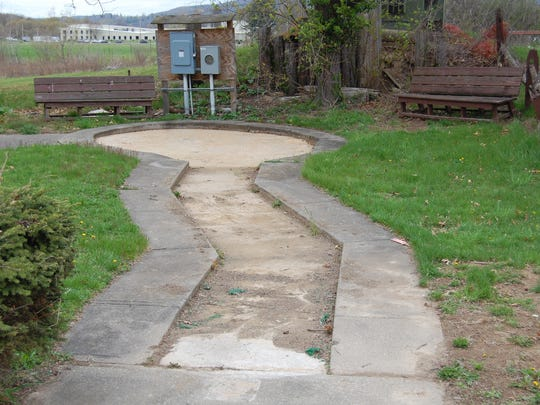 The donated mini-golf course was damaged twice in the