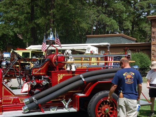 A fire truck muster would not be complete without at