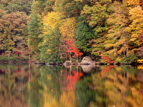 Colorful reflections on a pond can take your breath away.