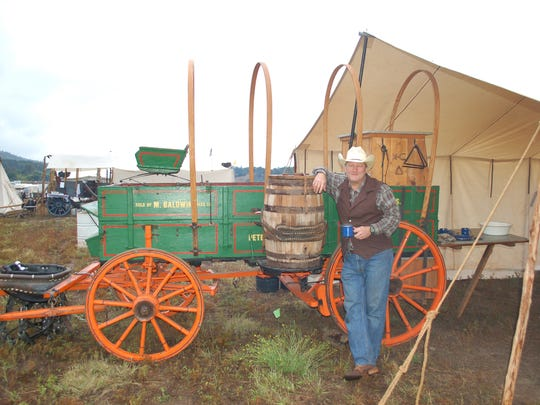 "Team, ""Camp Cookie"" will be cooking off of New Mexico's, Bell Ranch's Studebaker Chuckwagon."