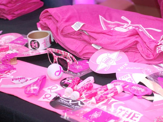 All sorts of pink Hershey Bears merchandise was available