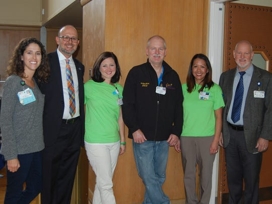 Abby McComb (from left), Karl Serrao, Lori Balchik, Philip Raine, Erica Gonzalez and Mike Mohat
