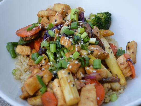 Stir fry bowl from Village Cafe by Isaac Rios of Phoenix.