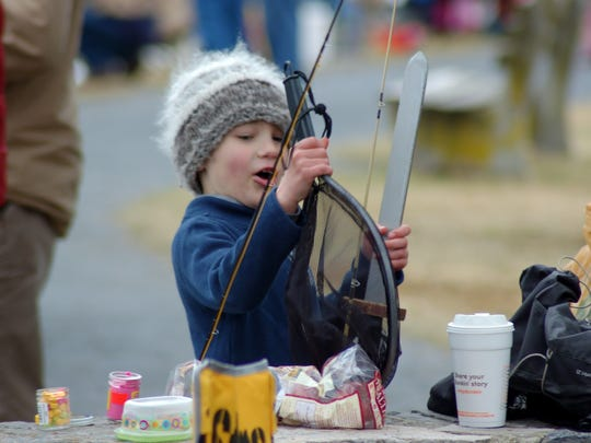 A youngster seemed to enjoy last year's Mentored Youth Trout Day.