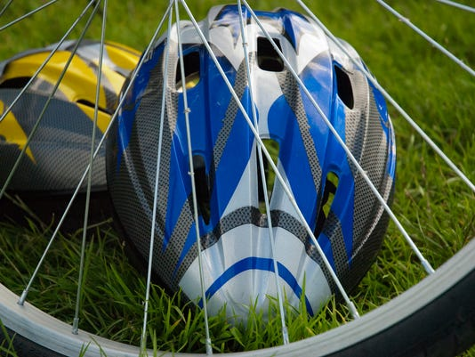 Bicycle wheel and helmets