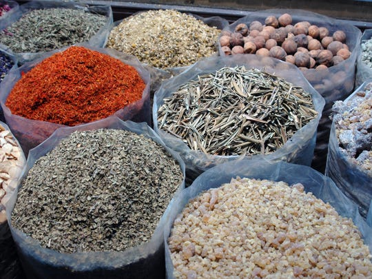 Spices at the old souk in Dubai