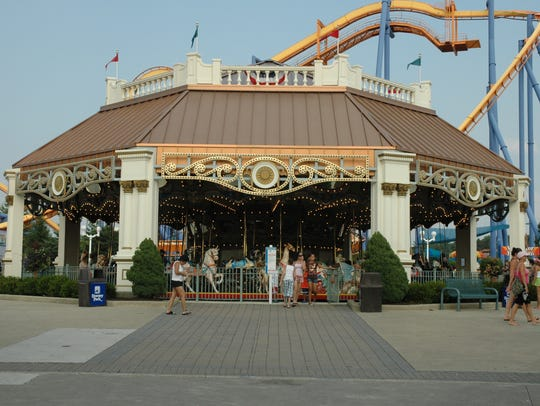 The 1921 Dentzel carousel, which was originally at
