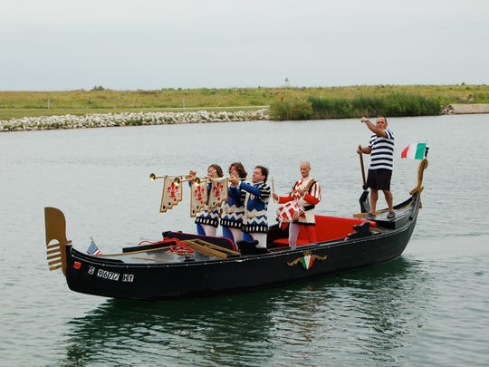Festa Italiana attendees can take a gondola ride in Lake Michigan.