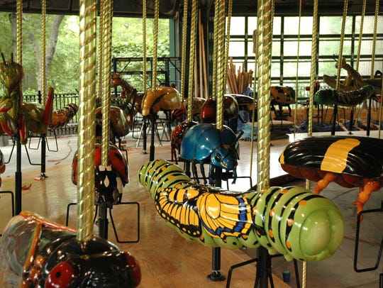 The Bug Carousel at the Bronx Zoo opened in 2005.