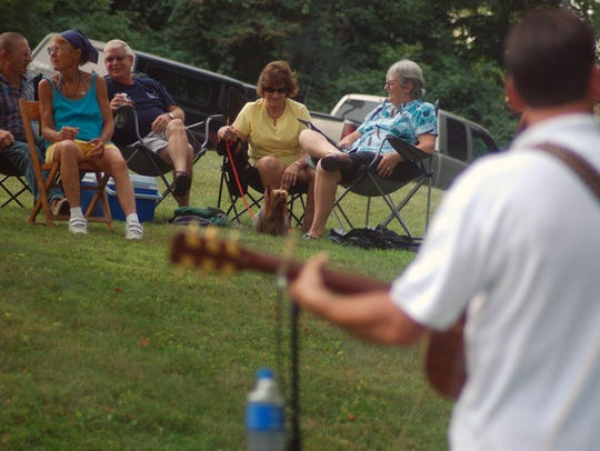 Previous attendees listened to bluegrass music by Chestnut