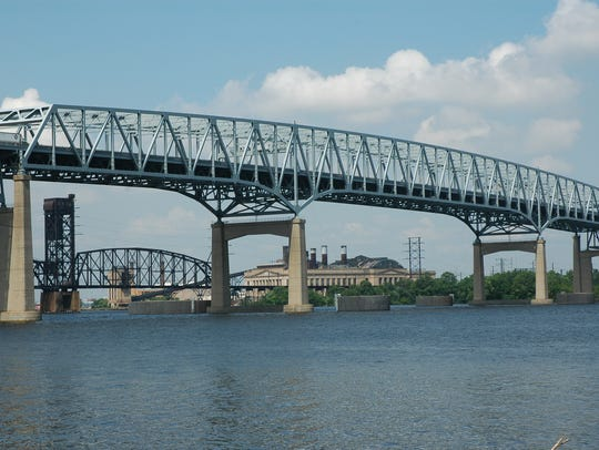 Betsy Ross Bridge  between Pennsauken and Northeast