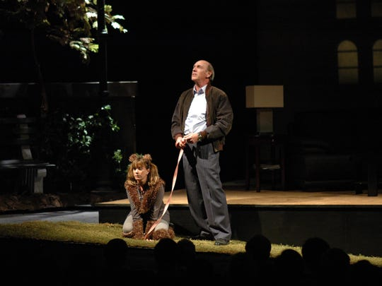 """A scene from Florida Rep's 2011 production of """"Sylvia,"""""""