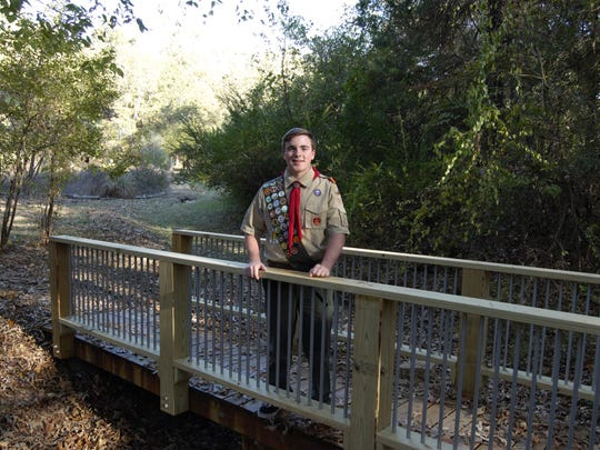 Russell Salyer replaced two bridges on the Clysta Willett Park nature trail as his Eagle Scout project. Salyer, 16, received help from fellow Scouts and classmates, and the material for the bridges was donated by Home Depot.