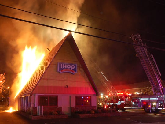The fire at IHOP in Fair Lawn in 2017.