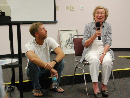 Tim Timinsky, and his mother, Janice Timinsky, respond