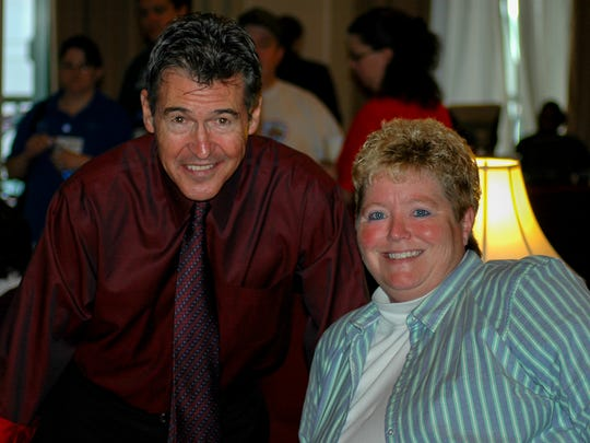 "Fort Defiance athletic trainer Becky Anhold with actor Randy Mantooth, who played John Gage on ""Emergency!""Anhold was a fan of the show, which, in part, led to her love of emergency medicine."