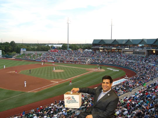 Somerset County Freeholder Director Patrick Scaglione selects 40 nonprofits for Community Box seats during the Somerset Patriots' 2018 season.
