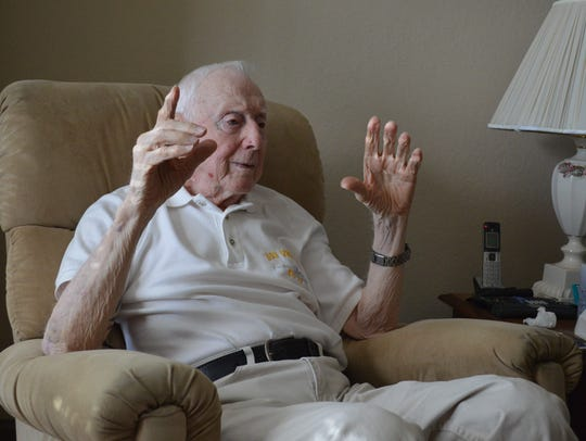Joseph Vogel, a 94-year-old World War II U.S. Navy