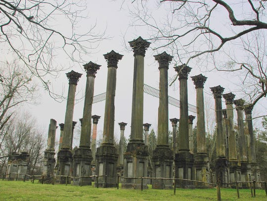 Twenty-three Corinthian columns are all that remain