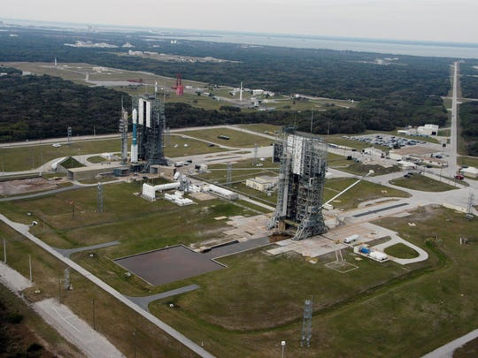 NASA's THEMIS spacecraft atop a Delta II rocket stood on Launch Complex 17B at Cape Canaveral Air Force Station before launch on Feb. 17, 2007. The complex's two pads are largely identical and both hosted historic missions for NASA and other customers.