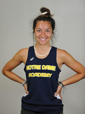 Ana Bertarelli of Notre Dame Academy has been named to The Patriot Ledger All-Scholastic girls track team for the spring of 2019.