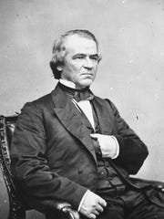 Portrait of 17th United States President Andrew Johnson. (Courtesy of the National Archives/Newsmakers)