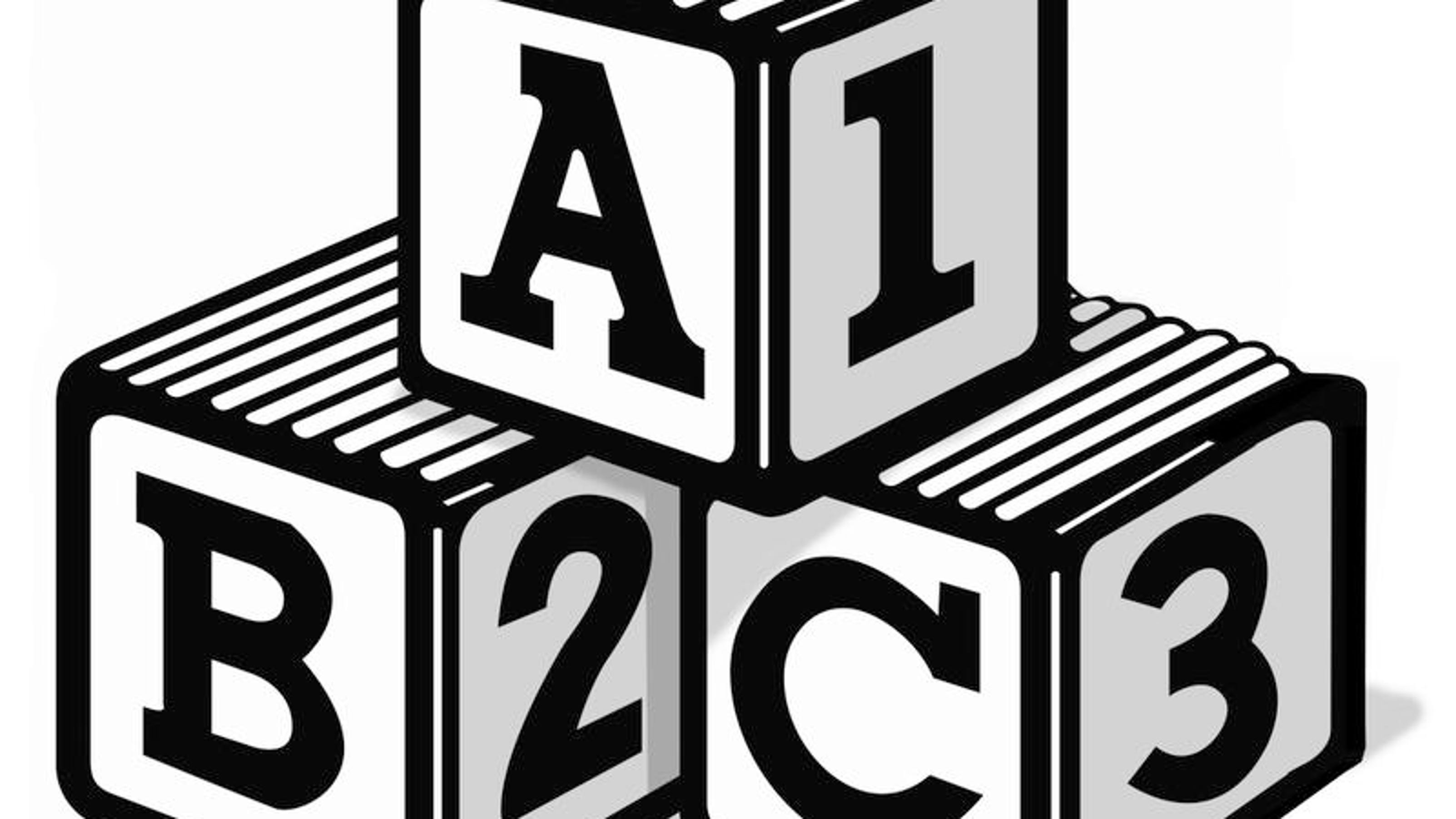 the gallery for gt abc 123 blocks clipart