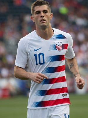 Christian Pulisic during a friendly against Bolivia in May.